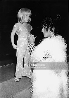 Cher and daughter, Chastity, at the circus, 1974.