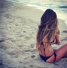 Beauty Hair crush in the beach Beach Hair, Beach Waves, Bikinis, Swimwear, Crushes, Places To Visit, Thong Bikini, Hair Beauty, Long Hair Styles