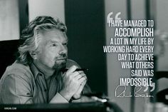 Impossible Is Just A Word!  #richardbransonquotes