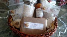 Vanilla Sea Salt Scrub Gift Basket by MagickWoman on Etsy