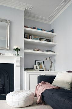 Our lounge makeover - progress to date | These Four Walls blog Design Living Room, Living Room Grey, Living Room Interior, Home Living Room, Living Spaces, Apartment Living, Diy Interior, Cozy Apartment, Interior Modern