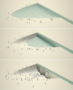 open air theater and rain water collector // conceptual urban design by paisajes…