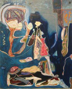 Sarah Dwyer, Butter Sunk Under, 2015, oil on canvas, 259,1 x 200,7 cm  http://www.sarahdwyer.com/ http://joshlilleygallery.com/ http://www.janelombardgallery.com/