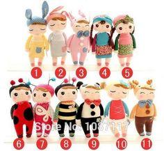 Cute Angela Dolls with Gift Box Metoo Bunny Plush Toys Stuffed Animals Panda Bee Dolls for Girls Baby Kids 1pcs
