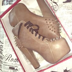 Brand new in box heel boots Brand new in box never worn Shoes Heeled Boots