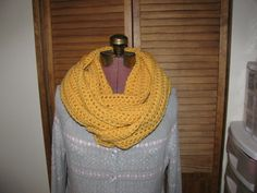 Warm yellow cornsilk infinity cowl scarf on Etsy, $25.00