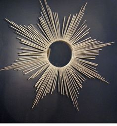 Starburst Mirror: Take a plain mirror to the next level with this starburst DIY. All you need is some branches from the floral supply store, spray paint, and Creative DIY Wall Art Ideas to Decorate Your Space via Brit + Co. Metal Tree Wall Art, Diy Wall Art, Diy Wall Decor, Metal Artwork, Mur Diy, Starburst Mirror, Diy Art Projects, Diy Mirror, String Art