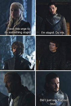 20 Hilariously Misquoted Moments from 'Game of Thrones' - BlazePress Funny Subtitles, Game Of Thrones Instagram, Game Of Thrones Meme, Fan Poster, Im Stupid, Got Memes, Stress, Got Quotes, Winter Is Here