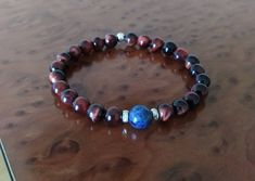Gemstone Bracelets, Sterling Silver Bracelets, Gemstone Jewelry, Boho Jewelry, Jewellery, Boho Ideas, Red Tigers Eye, Gifts For My Wife, Tiger Eye Beads