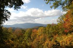 The beautiful Smoky Mountains in the Fall