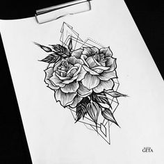 Drawing Roses - The geometric tattoo is one of the tattoos that has grown in popularity and retains it's staying power. Its one of the cool, incredible tattoos that many tattoo lovers and artist among other people… Tattoo L, Blade Tattoo, Tattoo Motive, Piercing Tattoo, Body Art Tattoos, New Tattoos, Sleeve Tattoos, Shield Tattoo, Tattoo Quotes