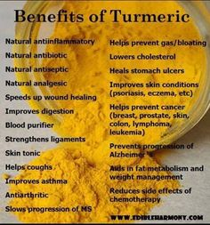 Look at all of these wonderful benefits of Turmeric...and you know what else has Turmeric in it --- Curcumin Extreme has Turmeric in it...visit for more information and reviews!!