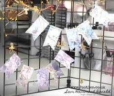 How To Make Quick And Easy Festive Bunting using Feels Like Frost Stampin Up, How To Make Banners, 3d Craft, Have A Good Weekend, Star Ornament, Ornaments, Child Love, Craft Videos, Bunting