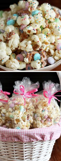 Funfetti Popcorn | Easy Easter Desserts for Kids to Make | Delicious Easter Treats for School Parties