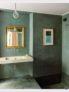 green bathroom concept