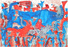 おしらせ | ミロコマチコ – mirocomachiko web site Illustrations, Illustration Art, Mexican Art, Watercolor Pattern, Wildlife Art, Painting Patterns, Elementary Art, Animal Paintings, Osaka