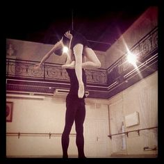 Ksenia Zhiganshina and her partner during a Vaganova Ballet Academy pas de deux exam
