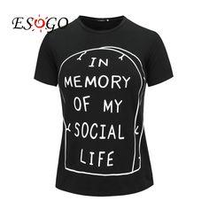 En Mémoire de Ma Vie Sociale T Shirt Pastel Goth Grunge Goth Tumblr Anti Social Kawaii Internet Hipster Rip Punk Indie Mignon Emo dans T-Shirts de Femmes de Vêtements et Accessoires sur AliExpress.com | Alibaba Group