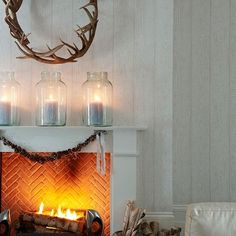looking for christmas mantelpiece inspiration make your fireplace stand out this festive period with these mantelpiece decorating ideas - Minimalist Christmas Decor