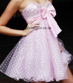 Short Pink Prom Dress.  Just too cute!