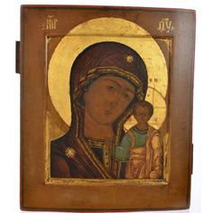 Icona russa antica Madonna Kazan XIX secolo   vendita online su HOLYART