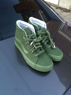 High top olive green vans e7631ab7e