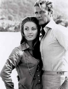 Rodger Moore and Jane Seymour