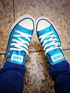 Rocking my sparkly converse today @Jessica Sutton Schuh #schuhsday