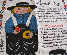 KAY DEE Kutups Characters Linen Amish Boy Doll  by madforvintage, $6.25