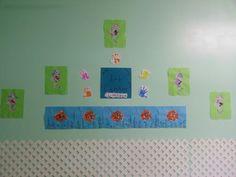 Toddler art wall