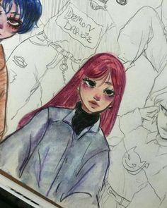 Cute Art Styles, Cartoon Art Styles, Cool Art Drawings, Art Sketches, Arte Sketchbook, Art Reference Poses, Drawing Reference, Pretty Art, Art Inspo
