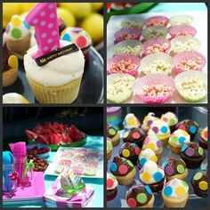 Crunch berries covered in almond bark then divided into polka dot cupcake liners!