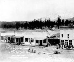 Flagstaff, Arizona, in the 1880's.