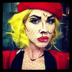 Roy Lichtenstein DIY Halloween costume<3<3 Designing and Creativity in Progress <3 ENVIED WEDDINGS & EVENTS www.enviedweddingsandevents.com <3 If you live in Oregon and want your wedding or event to be unique and special, contact us! <3<3