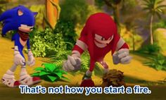 Discover & share this Sonic Boom GIF with everyone you know. Shadow The Hedgehog, Sonic The Hedgehog, Sonic Funny, Sonic 3, Sonic Boom Knuckles, Sonic Mania, Thanks Game, Sonic Underground, Best Movie Lines