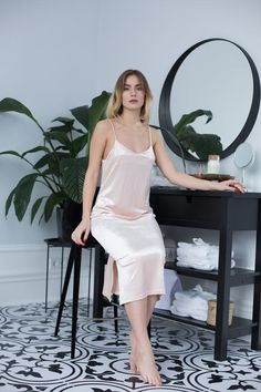 Your place to buy and sell all things handmade Satin Sleepwear, Satin Pyjama Set, Satin Dresses, Gowns, Nights In White Satin, Beautiful Long Dresses, Luxury Lingerie, Satin Lingerie, Night Dress For Women