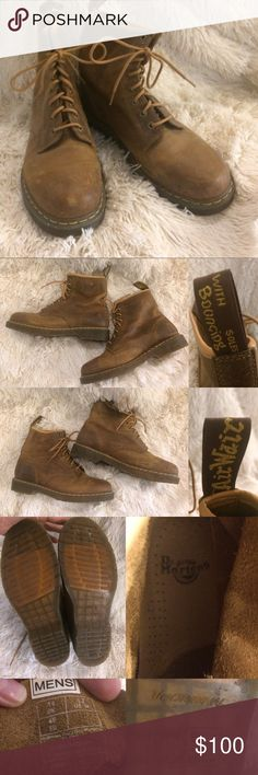 """Dr. Martens 1460 """"The Original"""" Workboot Air Wair with bouncing soles. These boots are in like new condition with minor wear and scuffs. Leather, cleaning should get rid of most scuffing. Worn a couple times but my husband changed jobs and no longer needs them. Dr. Martens Shoes Boots"""