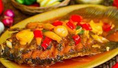 Resep Paling Sedap Cara Memasak Gurame Asam Manis Nasi Goreng, Padang, Indonesian Food, Fish And Seafood, Meatloaf, Salmon Burgers, Catering, Good Food, Pork