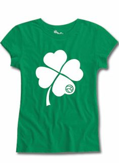 SHAMROCK Fitted Tee #Volleyball #StPattysDay $10.99