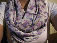 Light Purple Flower Infinity Scarf