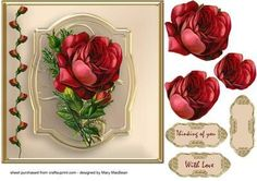 victorian red rose   Found on craftsuprint.com