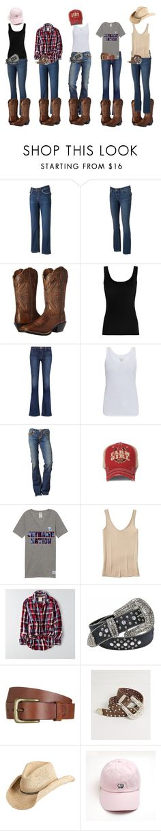 """""""Riding Outfits #3"""" by alliemartinnn ❤ liked on Polyvore featuring Apt. 9, Ariat, Twenty, J Brand, Majestic, Victoria's Secret, Banana Republic, American Eagle Outfitters, Will Leather Goods and BKE"""