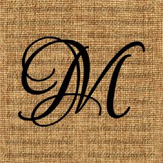 Monogram  Initial Letter M Letter Clip Art by InstantPrintable