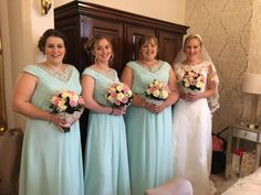 Gorgeous image of our Bridesmaids dress in the new colour sea green Brides And Bridesmaids, Bridesmaid Dresses, Wedding Dresses, Beautiful Bride, Off The Shoulder, Bodice, Chiffon, Colour, Sea