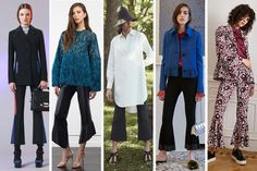 From left to right: Versace, Rachel Zoe, Rosetta Getty, Marco de Vincenzo, Cinq a Sept