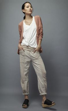 Page Wrap Cardigan,  100% pima cotton, casual and breezy wrap cardigan  with cuffed sleeves tie around the waist http://skinworldwideshop.com/collections/clothing/products/page-wrap-cardigan