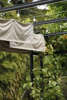 Use metal wire and grommets over top a pergola?