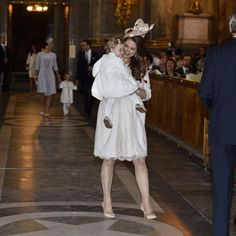 Princess Madeline wore Philip Treacy hat Princess Leonore wore the same coat as Estelle from Marie Chantal and a bow from Livly