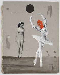 "Marcel Dzama - ""Front cover of untitled scrapbook"", 2007-2009"