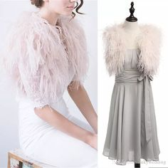 Cheap ostrich fur jacket, Buy Quality ostrich feather jacket directly from China ostrich bolero Suppliers: Blush Pink Ostrich Feather BRIDAL BOLERO Fu. Nigerian Lace Styles, Country Bridesmaid Dresses, Bridal Bolero, Wedding Jacket, Blush Pink Weddings, Ostrich Feathers, Shawls And Wraps, Fur Jacket, Evening Gowns